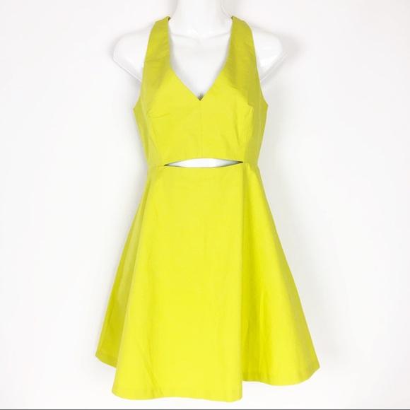 Zara Dresses & Skirts - ZARA // sz 4 neon cutout fit n flare tank dress
